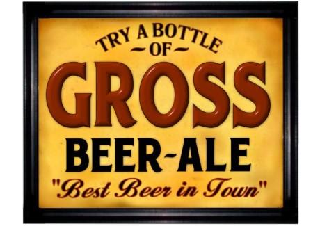 gross sign beer ale