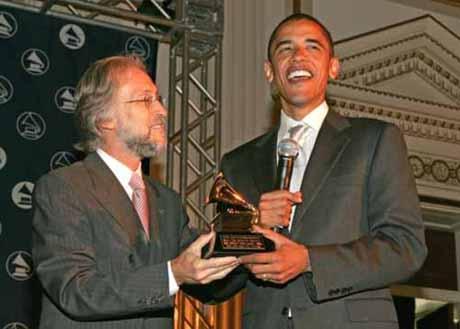 Recording Academy president Neil Portnow presents award to Illin