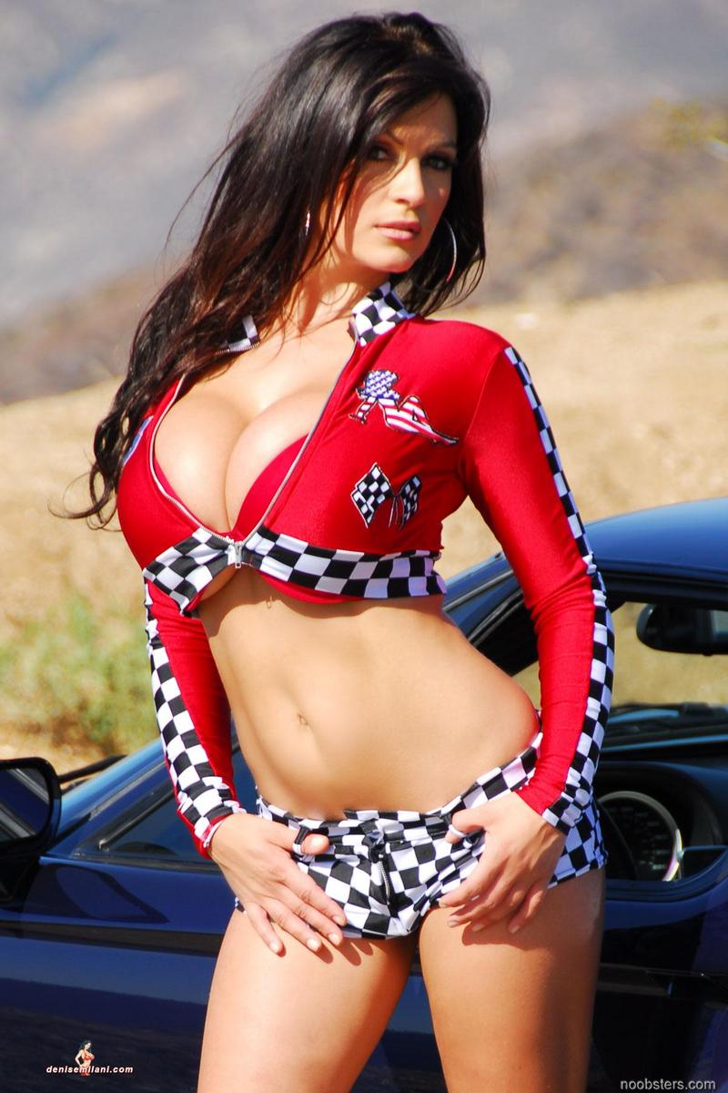 Girl With Big Boobs In Race Car Porn