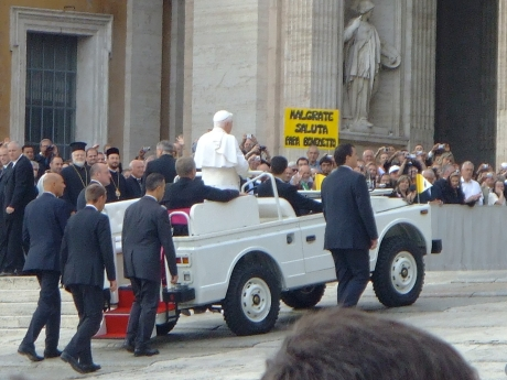 No PopeMobile Required. Also the name of a good cover band.