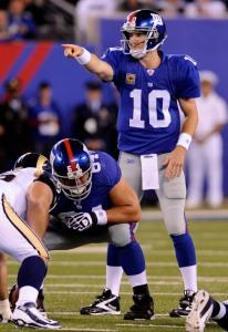 Eli Manning, David Baas