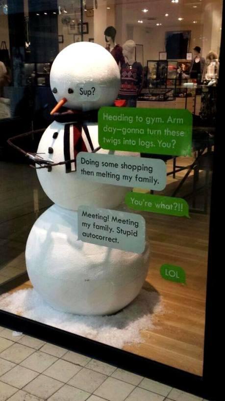 snowman text
