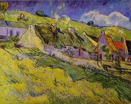 Vincent-van-Gogh-art-gallery-painting-Cottages