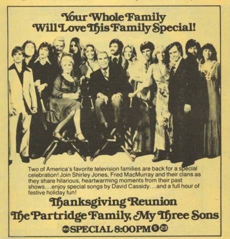 1977_abc_tv_ad_the_partridge_family_my_three_sons_thanksgiving_reunion