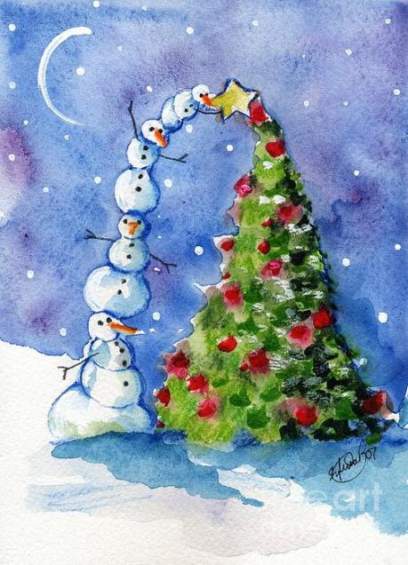 snowman-christmas-tree-sylvia-pimental
