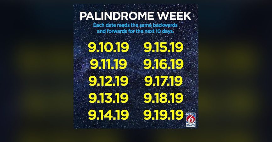 palindrome-week-2019