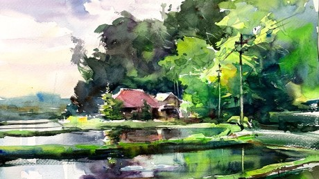 countryside-landscape-of-japan-healing-watercolor-art-calming